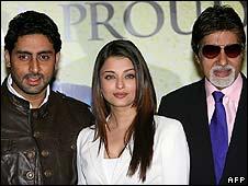Abhishek, Aishwarya Rai and Amitabh Bachchan