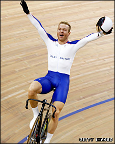 Britain's triple gold medallist Chris Hoy
