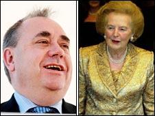 Alex Salmond and Lady Thatcher