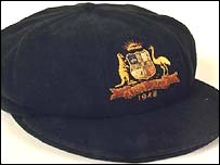 The baggy green cap worn by Australian cricketers