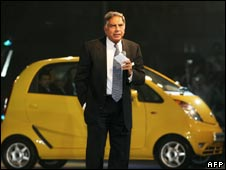 Mr Ratan Tata at the launch of Nano car
