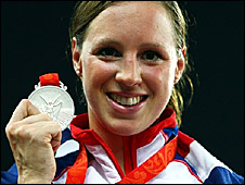 Britain's Heather Fell with her modern pentathlon silver medal