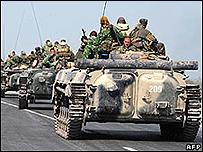 Tropas rusas cerca de Gori, 22 de agosto 2008