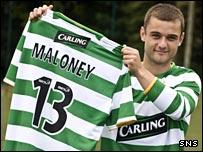 Celtic midfielder Shaun Maloney
