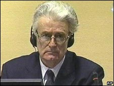 Radovan Karadzic in court