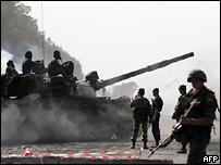 Российские танки в Грузии