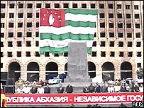 Manifestación por la independencia de Abjasia.