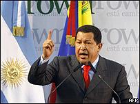 Hugo Ch�vez en Argentina