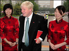 London Mayor Boris Johnson at Beijing