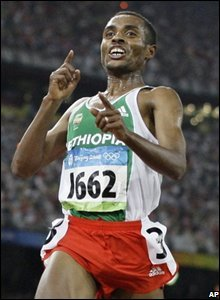 Ethipia's Kenenisa Bekele adds to his legend by wrapping up an emphatic distance double in the 5,000m