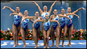 Russian synchronised swimming team