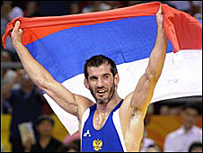 Russia's Buvaysa Saytiev wins gold for Olympic wrestling