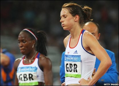There is more frustration for Britain in the 4x400m relays with the men and the women narrowly missing out on the podium