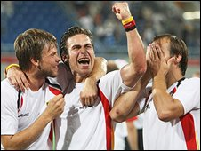 German hockey team celebrate