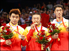 China have dominated the table tennis