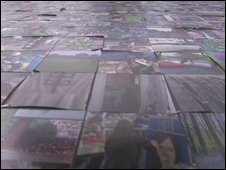 Some of the photographs on the mosaic