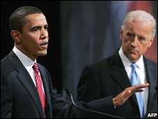 Barack Obama (L) and Joe Biden during a debate last year.