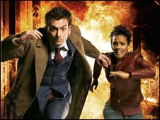 David Tennant and Martha Jones in Doctor Who