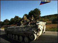 ناقلة جنود روسية في جورجيا