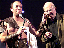 Australian comic Brendon Burns and veteran entertainer Clive James