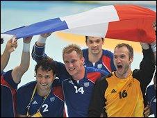 France celebrate handball gold