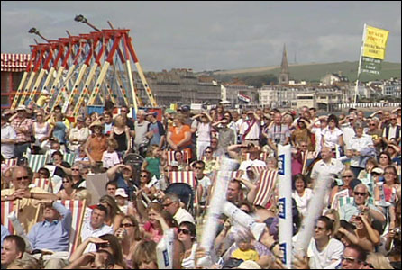 Crowds in Weymouth