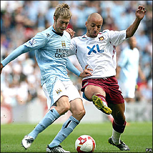 Michael Johnson, Manchester City; Julien Faubert, West Ham United