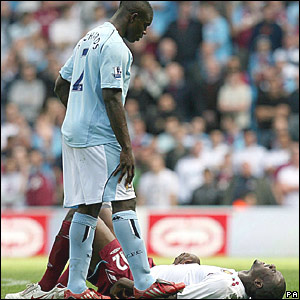 Micah Richards, Manchester City; Carlton Cole, West Ham United