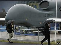 El avión no tripulado Global Hawk de la Fuerza Aérea de EE.UU.