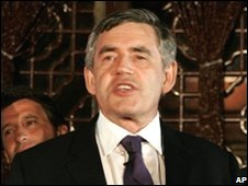 Gordon Brown in Beijing