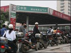 Sinopec petrol station in Shanghai