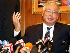 Malaysian Deputy Prime Minister Najib Razak, pictured on 3 July 2008