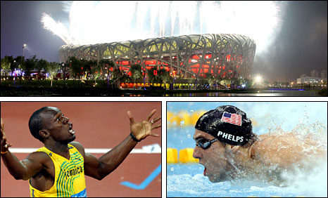 Usain Bolt and Michael Phelps starred at the 2008 Olympics