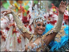 A dancer in Notting Hill Carnival
