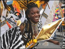 A performer in the carnival