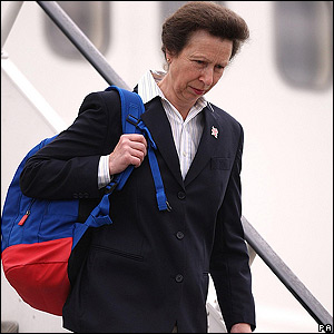 Princess Anne arrives back in London