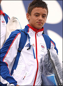 Daley returns from his first Olympics
