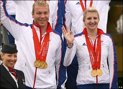 Chris Hoy and Rebecca Adlington