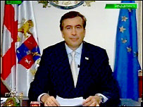 Саакашвили выступает по грузинскому ТВ