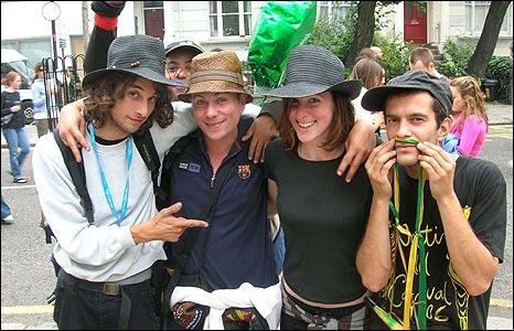 Francoise Leroy (left), Jean Sebastien Dakpe-Bocognonin, Simon Foutrel, Inorgane Lesne, Matthieu Talouen