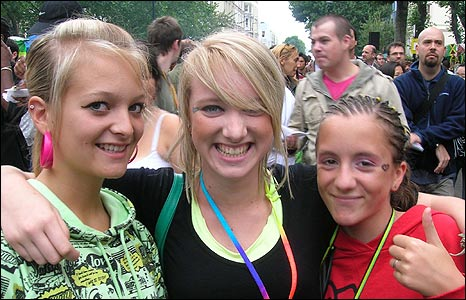 Becki Havill (left), April Summers and Beth Summers