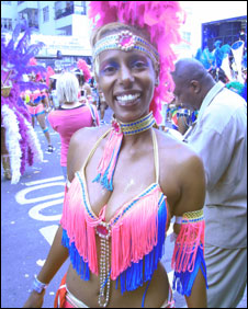 Carnival dancer Aida Asefaw