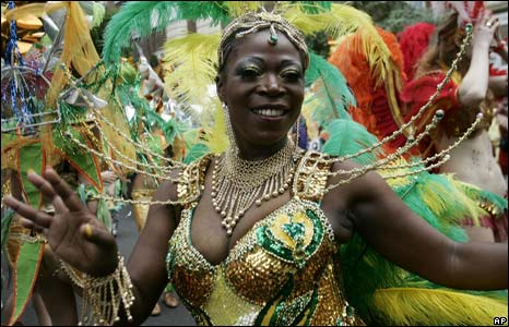 Dancer at the Notting Hill Carnival