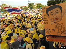 Thousands of protesters near Government House in Bangkok on Tuesday