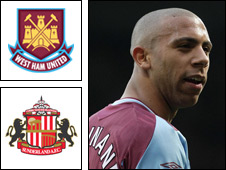 West Ham defender Anton Ferdinand is wanted by Sunderland