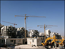 Construction site in the Israeli settlement of Har Homa, East Jerusalem