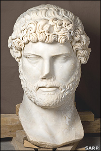 Colossal marble head of Hadrian (SARP)