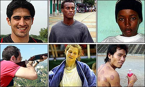 Montage of the athletes