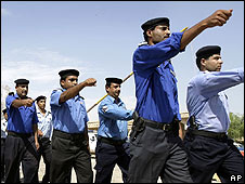 Iraqi police recruits (generic image)