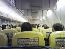 Photo taken by a passenger after Ryanair plane landed at Limoges in France